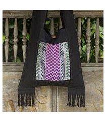 cotton shoulder bag, 'thai twilight' (thailand)
