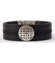 the craig leather cuff bracelet black one size