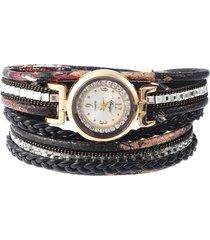orologi da donna in pelle con strass bohemian bracciale in pelle multicolore regalo per lei