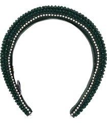 maryjane claverol bead-embellished headband - green