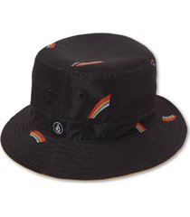 women's volcom x outer banks have a good time reversible bucket hat - black