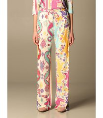 etro pants patmos etro jogging trousers in printed viscose