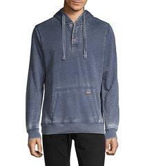 burnout cotton-blend hoodie
