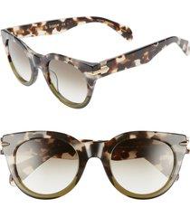 rag & bone core 50mm cat eye sunglasses in grey/black spotted at nordstrom