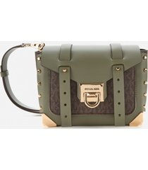michael michael kors women's manhattan small messenger bag - army green