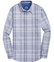 joe joseph abboud repreve® blue & navy plaid sport shirt
