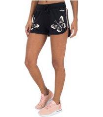 shorts adidas farm p - feminino - preto/branco