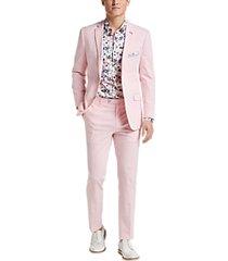 paisley & gray slim fit suit separates jacket pink seersucker