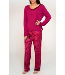 tahari mix velvet pajama set, online only