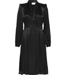 lynngz dress ms20 jurk knielengte zwart gestuz