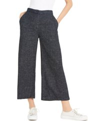 eileen fisher cropped organic-cotton wide-leg pants