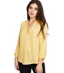blusa manga ajustable amarillo nicopoly