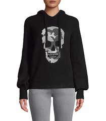camo skull cashmere hoodie