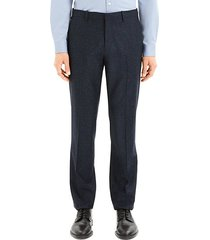 bowen mayer classic-fit wool & silk dress pants