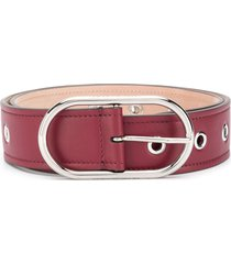 acne studios studded leather belt - purple