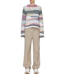 'paricollo lingo' distress detail crop sweater