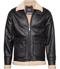 outerwear leren jack leren jas zwart blend