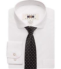 joseph abboud boys white dress shirt & tie set