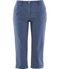 pantaloni capri elasticizzati con cinta comoda (blu) - bpc bonprix collection
