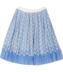 gucci light blue skirt gg
