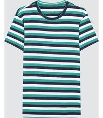 camiseta para hombre franjas verdes color verde, talla l