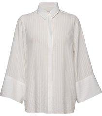 crimson tencel overhemd met lange mouwen crème arnie says
