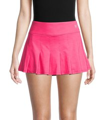 eleven by venus williams women's pleated tennis skirt - raspberry - size xl