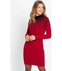 gebreide jurk met strepenprint