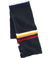 tommy hilfiger men's chunky-knit stripes scarf