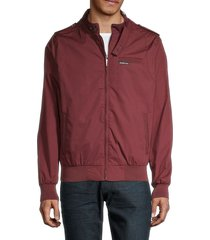 members only men's iconic racer jacket - burgundy - size xl