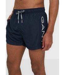 gant logo swim shorts lightweight badkläder marine