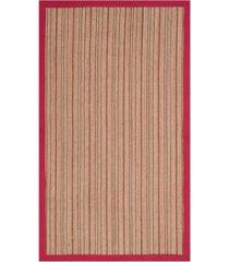 safavieh natural fiber brown and red 3' x 5' sisal weave rug
