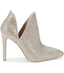 shimmi glass beads heeled booties