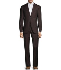 john varvatos star u.s.a. men's standard-fit wool suit - burgundy - size 38 s