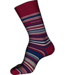 men's boss multi stripe crew socks, size one size - red