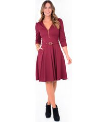 vestido xuss 1239 vinotinto