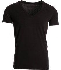 hom t-shirt v-neck stretch zwart