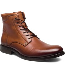 608 snörade stövlar brun playboy footwear