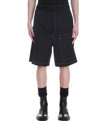 jil sander shorts in black cotton