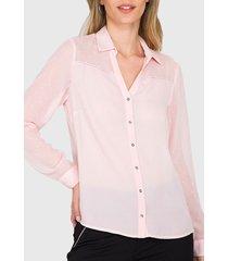 blusa  ash camisera doble tela  rosa holgada