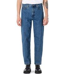 men's a.p.c. martin straight leg jeans, size 36 - blue