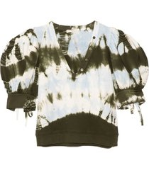 bess pullover in military tie dye