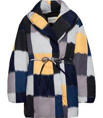kolmikko ostjakki coat gevoerde lange jas multi/patroon marimekko