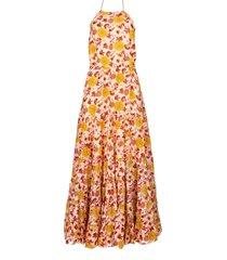 maxi jurk met print neptune  roze