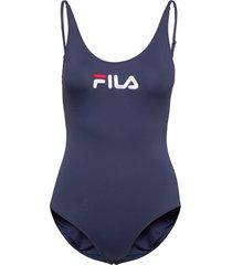 women saidi swim suit baddräkt badkläder blå fila