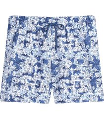 pantaloneta playa estampada color azul, talla l