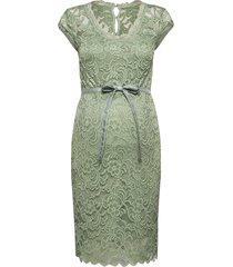 mlnewmivana cap jersey dress a. knälång klänning grön mamalicious
