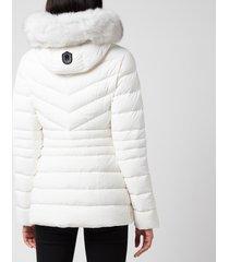 mackage women's patsy-bx hooded light down jacket - off white - l