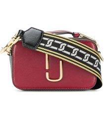 marc jacobs bolsa tiracolo pequena de couro - vermelho