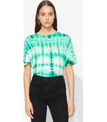 proenza schouler tie dye t-shirt malachite/white/blk/green xs